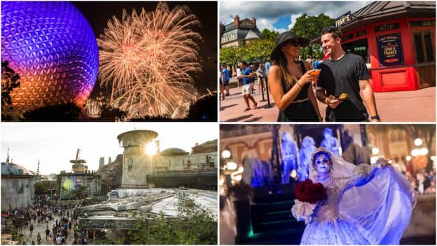 Collage of Fall offerings at Walt Disney World Resort