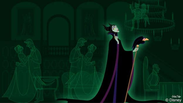 Disney Doodles Maleficent Crashes The Party At The Haunted