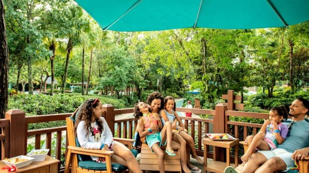 Family dines at Typhoon Lagoon