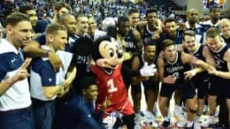 Villanova Basketball Team with Mickey Mouse at ESPN Wide World of Sports Complex