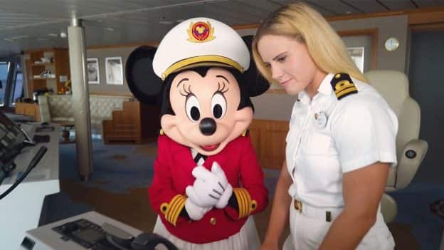 Captain Minnie and Disney Dream 2nd Deck Officer Aneta