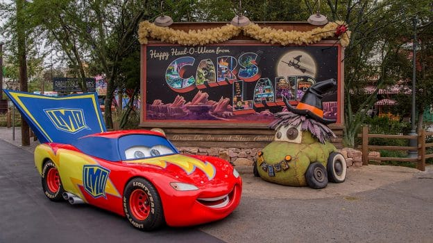 Cars Land during Halloween Time
