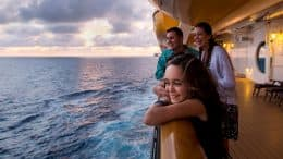 Family on a Disney ship