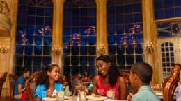Family dines at Be Our Guest Restaurant at Magic Kingdom Park