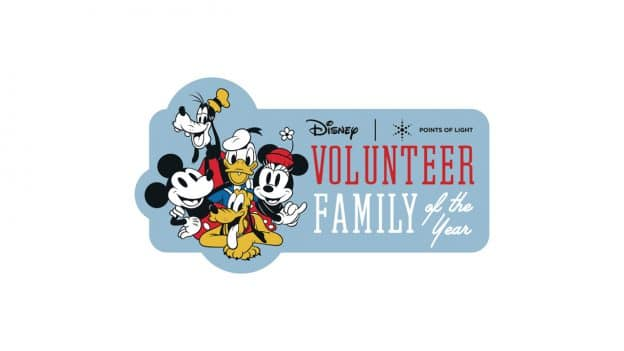 Disney and Points of Light Volunteer Family of the Year Logo