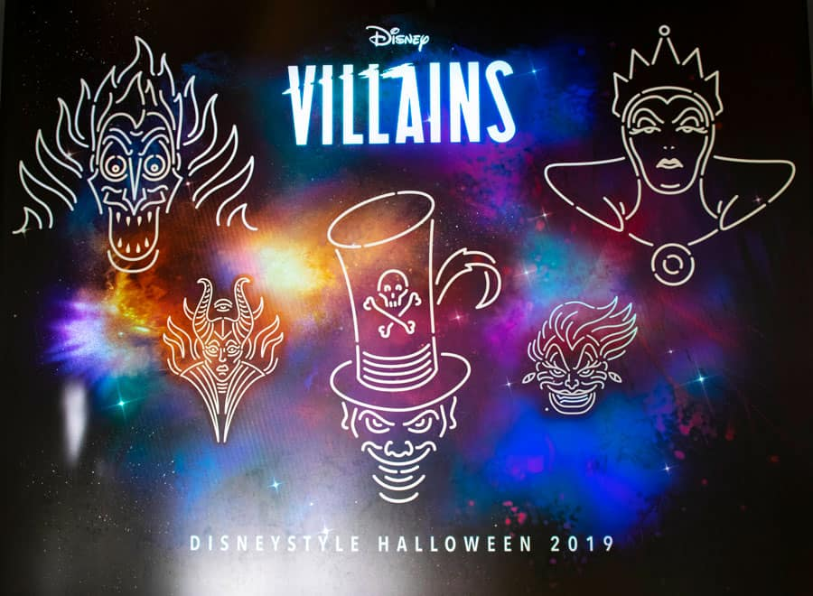 Disney Villain wall at Disney Springs