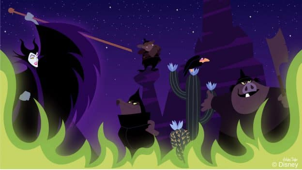 Disney Doodle Maleficent Takes Over The Disney Mountains