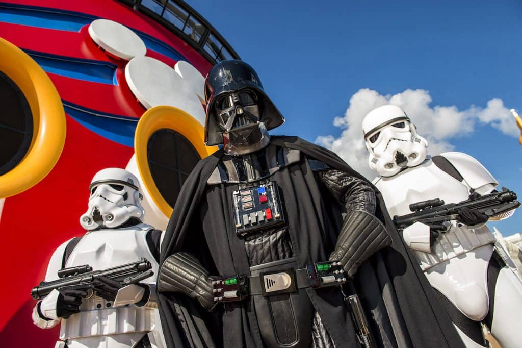 Darth Vader on the Disney Fantasy for Star Wars Day at Sea