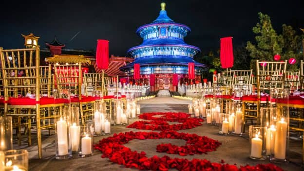 Disney Fairy Tale Wedding at the China Pavilion at Epcot