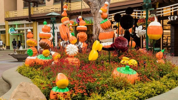 Halloween decor at the Downtown Disney District at Disneyland Resort
