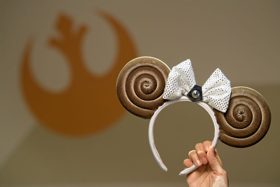 Princess Leia Bun-Inspired Minnie Ear Headband