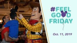 #FeelGoodFriday Oct. 11, 2019 - Featuring a photo of nine-year-old Grant with Woody