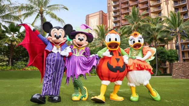 Disney characters at Aulani, a Disney Resort & Spa