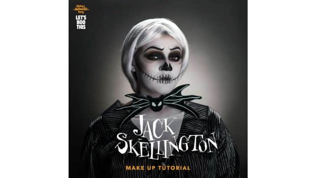Let's Boo This! Jack Skellington Makeup Tutorial by Kay-Lani