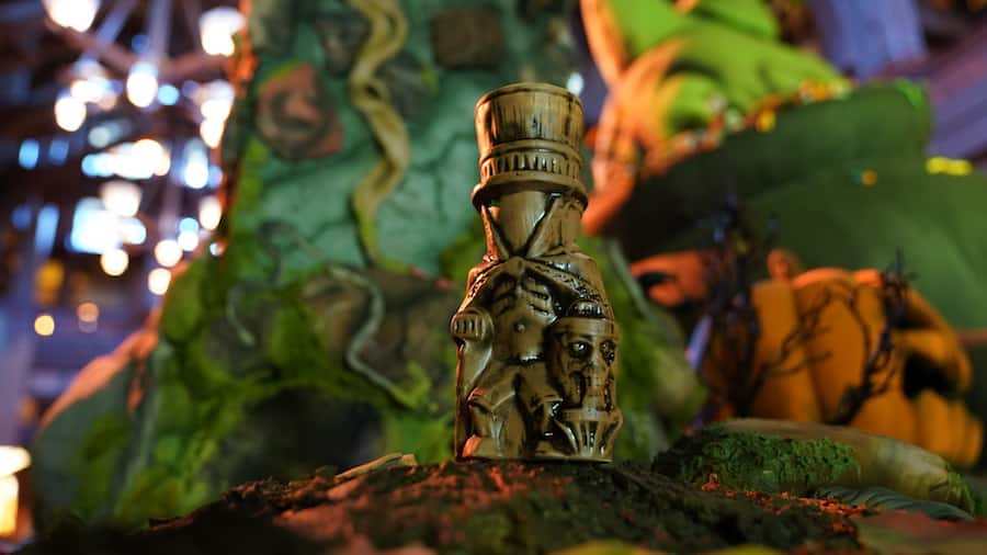 Hatbox Ghost Tiki Mug from Trader Sam's Tiki Bar at the Disneyland Hotel
