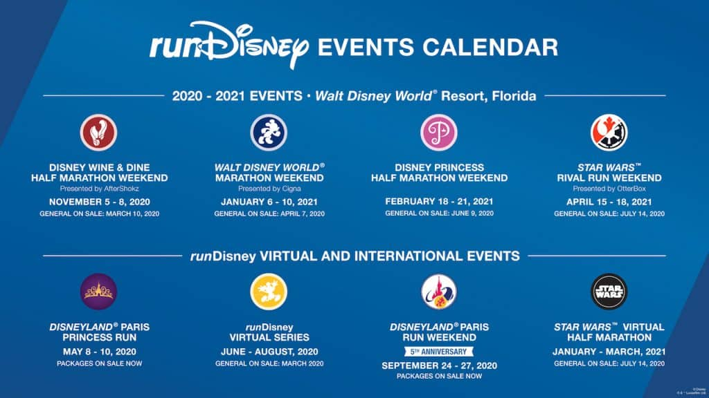 Calendrier Running 2021 Start Planning Your runDisney Race Calendar for 2020 – 2021