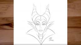 Drawing of Maleficent from 'Sleeping Beauty'