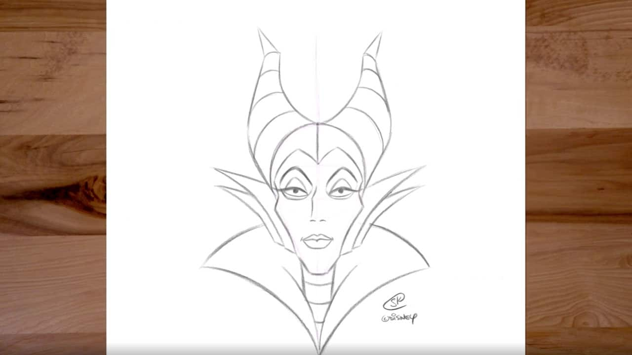 Learn To Draw Maleficent From Sleeping Beauty Disney Parks Blog