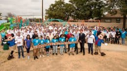 Volunteers from the Disneyland Resort, city of Anaheim and Anaheim Family YMCA joined KaBOOM