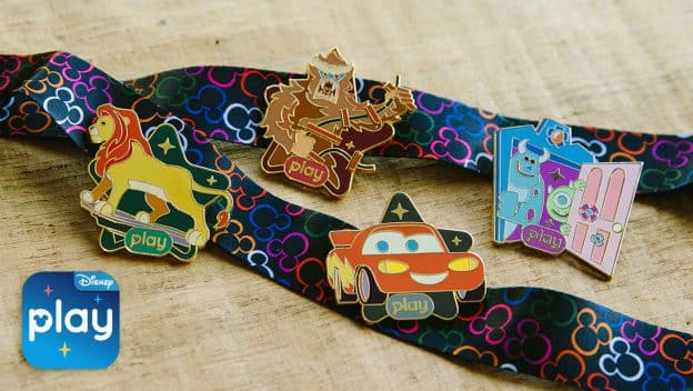 Play Disney Parks app commemorative trading pins