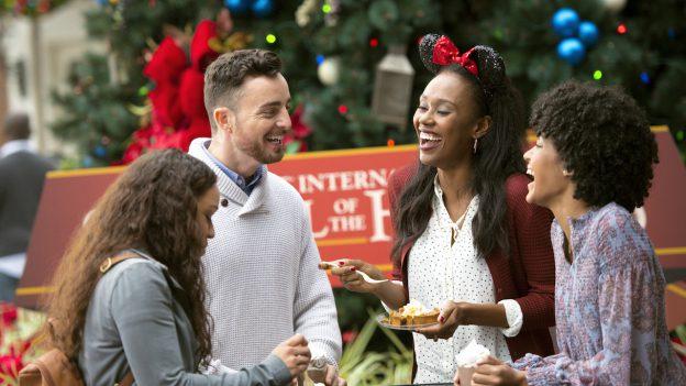 Young Adults enjoying the holidays at Walt Disney World Resort