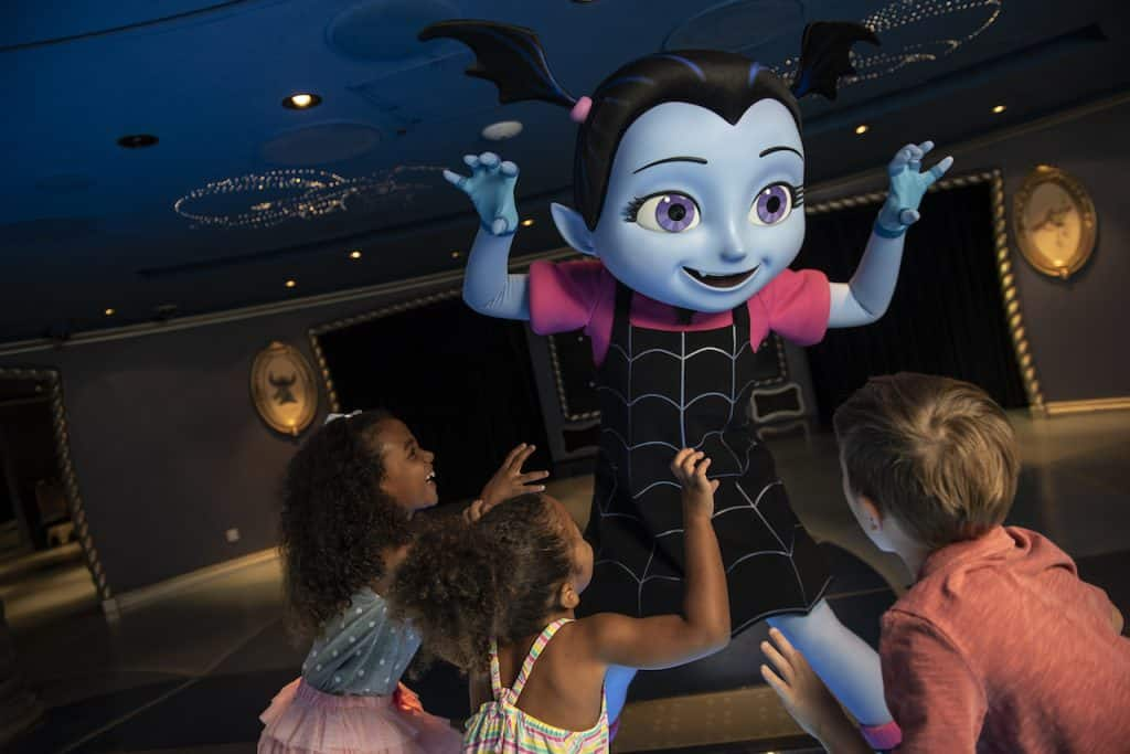 Vampirina with guests on Disney Cruise Line