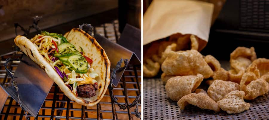 Ronto-less Garden Wrap and Kyryll Pork Rinds from Ronto Roasters at Disneyland Park
