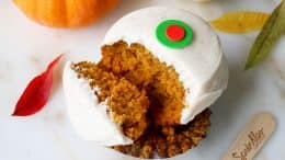 Pumpkin cupcake from Sprinkles at Disney Springs
