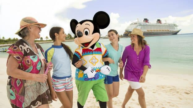 Family with Mickey Mouse on Castaway CAy