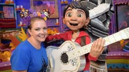 "Actress Melissa Joan Hart meets Miguel of Disney and Pixar's film ""Coco"""