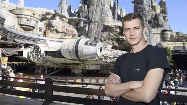 actor Hayden Christensen in Star Wars: Galaxy's Edge
