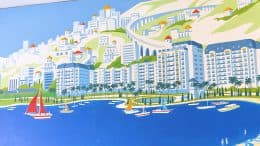 Mediterranean Mural at Disney's Riviera Resort