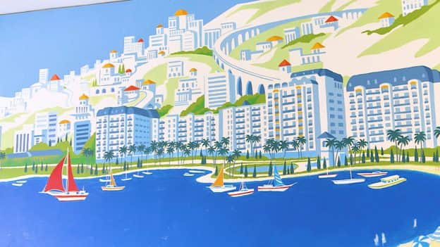 Mediterranean Mural at Disney's Riviera Resort