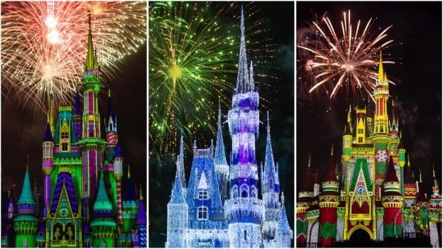 Collage of 'Minnie's Wonderful Christmastime Fireworks'