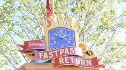 Disney's FastPass Return Clock at the Dumbo the Flying Elephant attraction at Magic Kingdom Park
