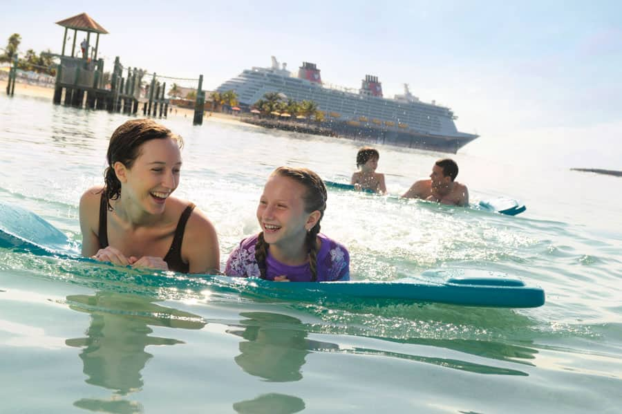 Guests swim at Castaway Cay