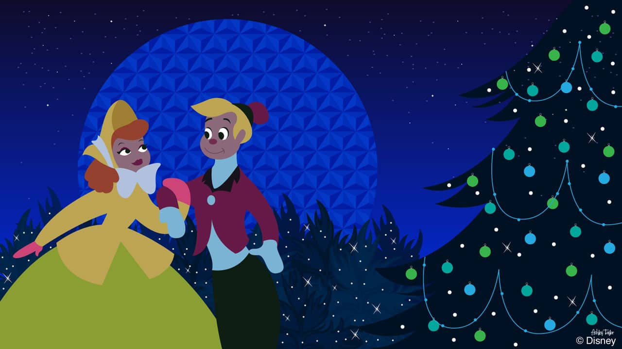 Disney Doodle Once Upon A Wintertime Characters Visit For The Holidays Disney Parks Blog