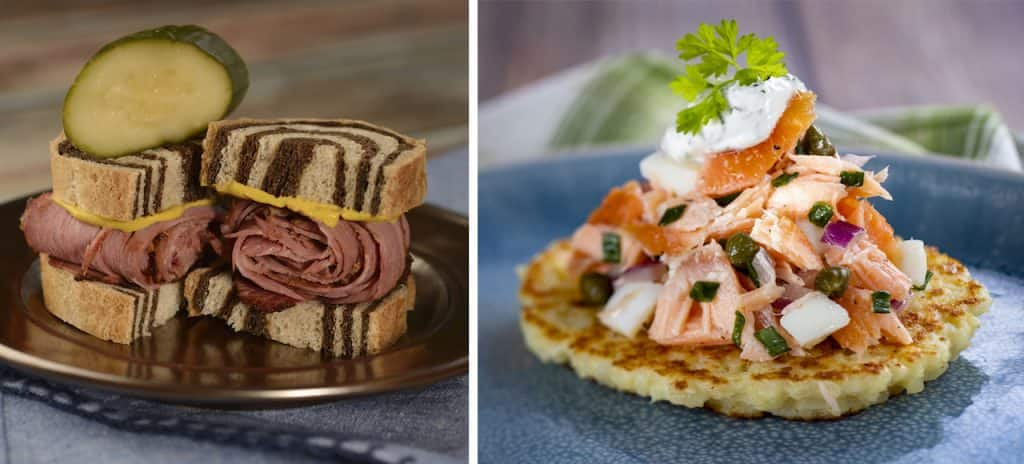 Offerings from the L'Chaim! Holiday Kitchen for the 2019 Epcot International Festival of the Holidays