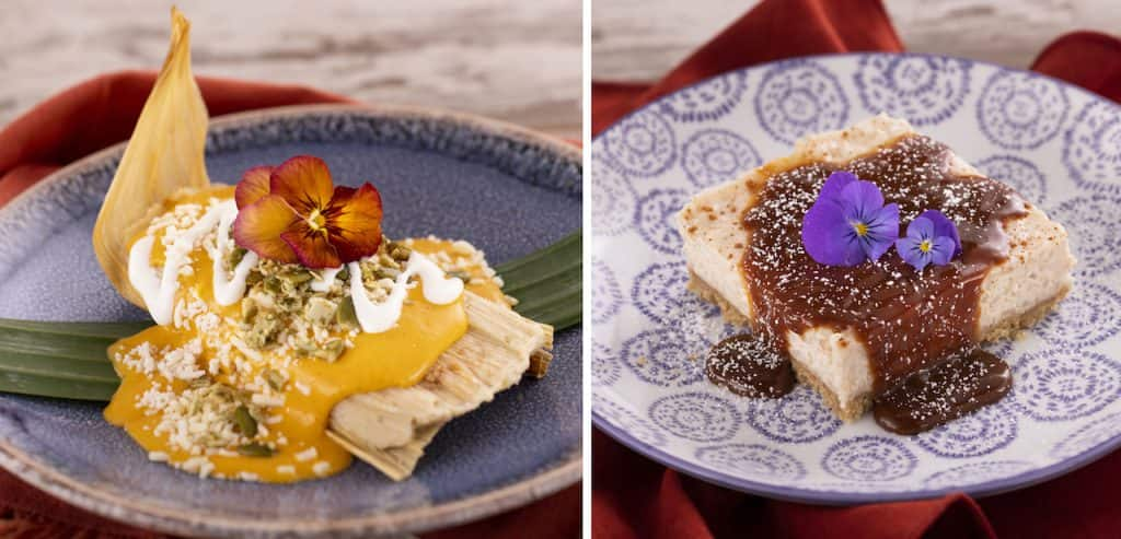 Offerings from the Las Posadas Holiday Kitchen for the 2019 Epcot International Festival of the Holidays
