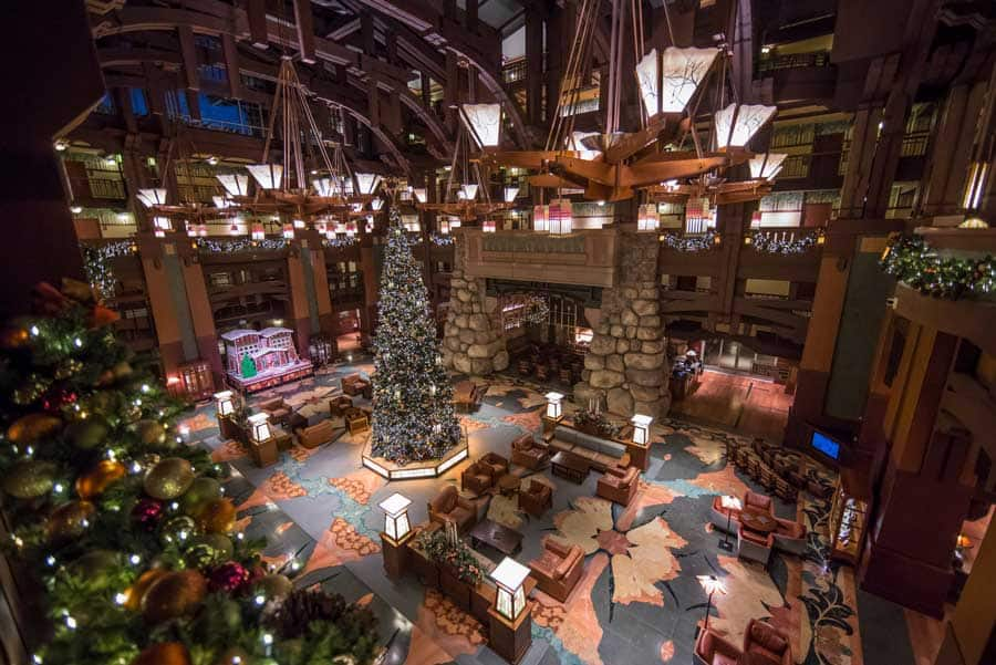 Holiday display at Disney's Grand Californian Hotel & Spa
