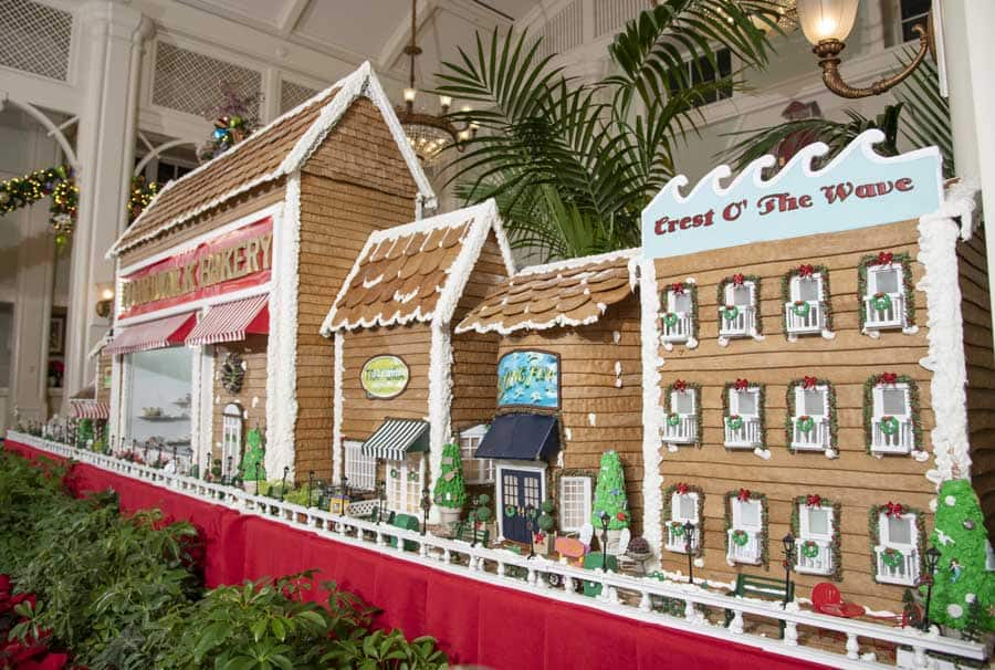 Gingerbread Display at Disney's BoardWalk Resort