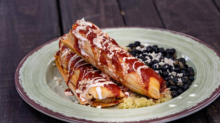 Tamales Plate from Cocina Cucamonga for Disney Festival of the Holidays 2019 at Disney California Adventure Park