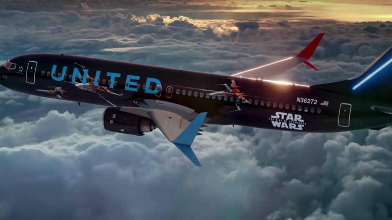 Sneak A Peek Inside United Airlines Star Wars Themed Airplane