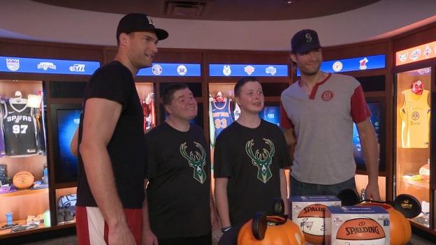 NBA Players Brook and Robin Lopez visit NBA Experience at Disney Springs