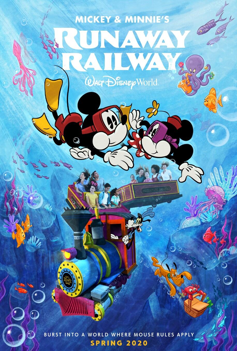 Mickey & Minnie's Runaway Railway Poster