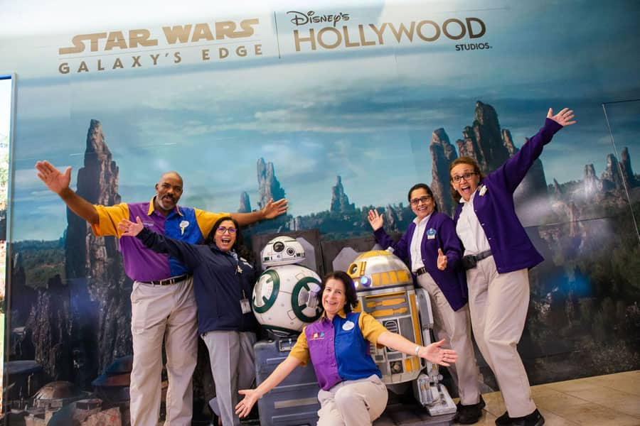Star Wars: Galaxy's Edge photo opportunity at Orlando International Airport