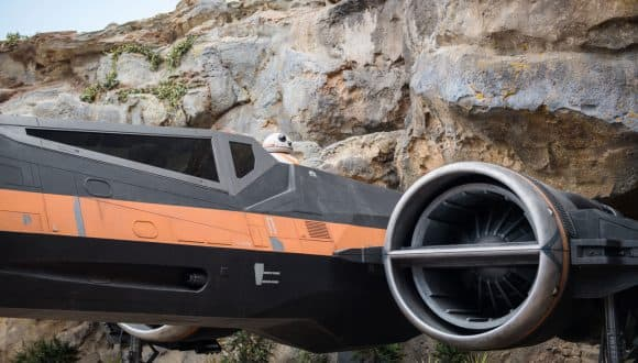 Poe's X-wing from Star Wars: Rise of the Resistance