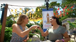 Disney Parks Moms Panelists, Desiree Flores and Verónica Crespo-Owens