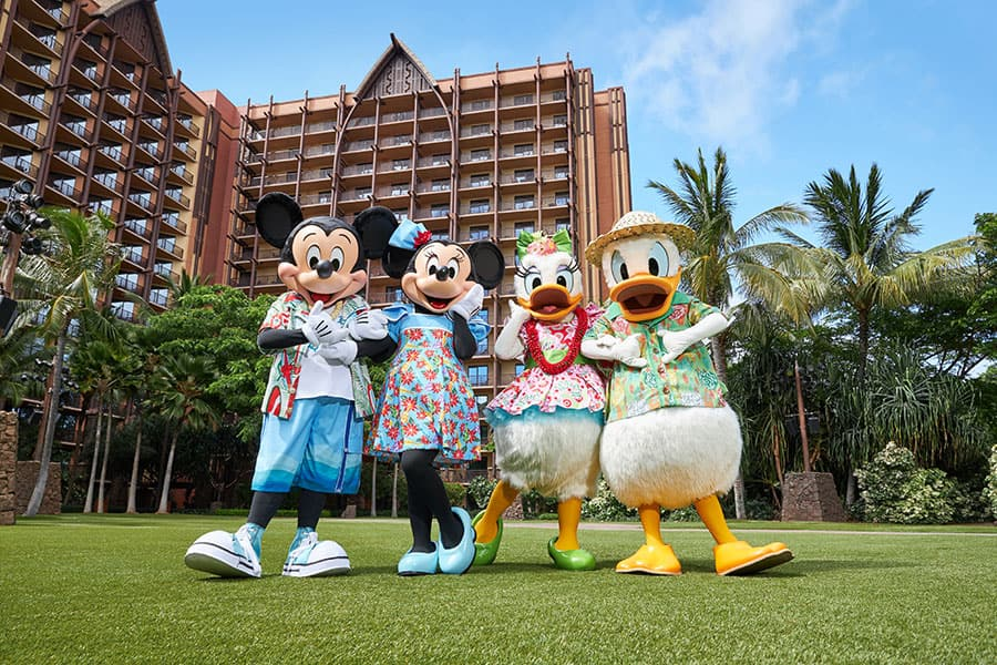 Mickey, Minnie, Donald and Daisy