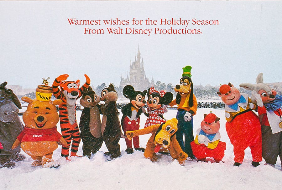 1984 Disney Christmas Card